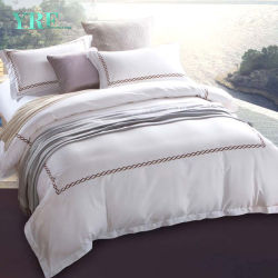 Yrf Wholesale Custom White Egyptian 100% Cotton Bed Linen King Size Luxury  Bedding