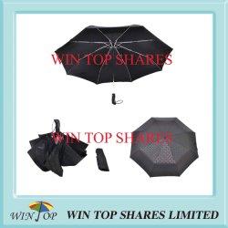 Automatic Embossed Black Man Universal Umbrella