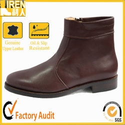 Brown Leather Sole Ankle Office Boots