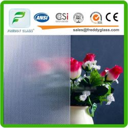 2.5-12mm Clear Rose Pattern Glass