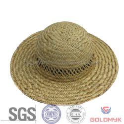 100% Straw Sun Dress Ladies Hats Straw Hat (GKM03-Q0021)