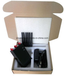 Wholesale Selectable 6 Antennas Portable CDMA/GSM/PCS/Dcs/3G/4G Cell Phone Jammer
