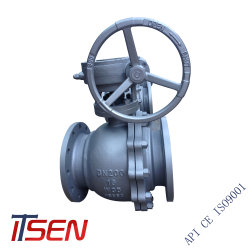API6d 2PC Carbon Steel/Stainless Steel Flange End Class 150/300 (lb) Industrial Ball Valve for Manufacturer Company in China