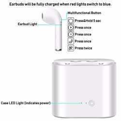 Hbq I7 Tws Twins True Wireless Earbuds Mini Bluetooth Stereo Headphone Headset Sports Mobile Earphone