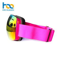 Top Grade Purple Color Removable Magnet Lens Big Brands Safety Eyewear Snow Sports Glasses