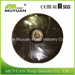 Wear Resistant Acid Resistant Natural Rubber Elastomer Slurry Pump Part Impeller