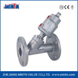 Pnuematic Angle Seat Valve with Actuator Price Ss304/Ss316 Flange Connection