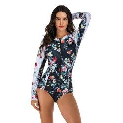 Swimming Suit for Women Swimwear Women Long Sleeve Swimsuit One Piece Bathing Suit Female Miao Beachwear Rush Guard Surf Wear