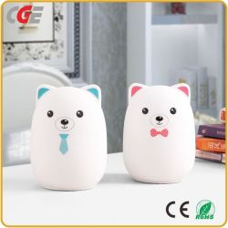 LED Table Lamps Silicone Soft Night Light Bedside Lamp Bear Color Changing Night Light