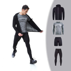 2017 Fitness Comfortable Gym Winter Sportswear for Men Compression Jacket