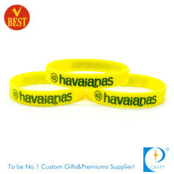 Hot Sale Custom Fashion Debossed Printed Silicone Wristband for Sports