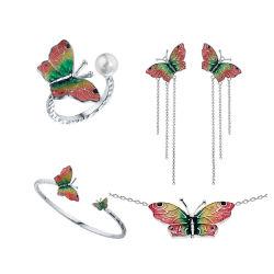 2020 Hotsale Female Jewelry 925 Sterling Silver or Brass Dangle Ladybug Animal Enamel Earring