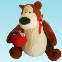 Big Plush Teddy Bear with Heart Shape Decoration