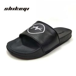 7c0f8d329cf Shikeqi High Quality Custom Printed Flat Slipper for Men Soft Sole Indoor Slippers  Customized with Logo