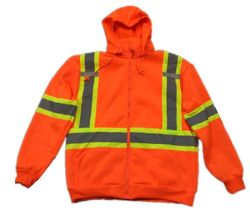 ANSI Approval Outdoor Quality High Visibility Reflective Safety Flannel Jacket Fleece From Factory