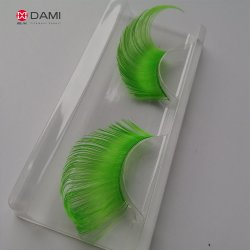 Bright Green Color Solid Tapered PBT Filament for Artificial False Eyelash