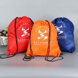 0a1c238801 Customized Wholesale Promotional Organic Waterproof Gift Nylon Drawstring  Shopping Bag with Rope Handle