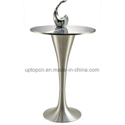 Brushed Edging Desktop Bar Table With Aluminum Legs Sp Bt640