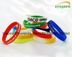 Custom Debossed Logo Sports Silicone Wristband for Promotion Gift (BS-006)