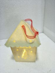 Wholesale Wood Lighted Christmas Warm House Hanging Gifts & Decoration