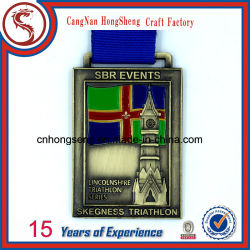 Newest Souvenir 3D Metals Medal with Customized Ribbon