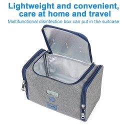 Smart Chargeable Foldable UVC Sanitizer Cleaner Bag Collapsible Portable Disinfection Bag UVC Lamp Light Sterilizer Bag