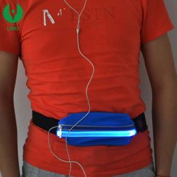 Waterproof Reflective Running Belt Rechargeable LED Sports Elastic Waist Bag