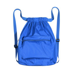 Promotion Gift Fashion Men Women Foldable Soft Durable Nylon Waterproof Camping Travel Hiking Outdoor Sports Gym Shopping Grocery School Drawstring Bag