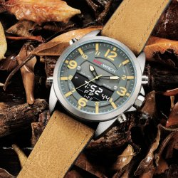 Watch Quartz Digital Fashion Silicone Watch Dual Time Chronograph Quality Waterproof Watch Plastic Watch