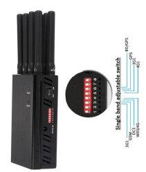 8CH Handheld Man-Portable 2g 3G 4G Cellular Phone Mobile Signal Jammer