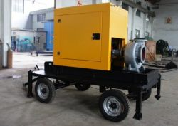 100m3/H Movable Diesel Engine Slef-Priming Water Pump with Four Trailer