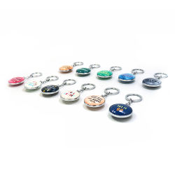 Custom Personalized Souvenir Crystal Fashion Metal Keychain for Promotion Gift