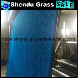 Rainbow Artificial Grass Blue Color 25mm 16800tuft Density