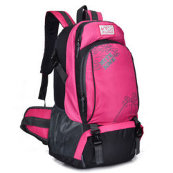Pink Waterproof Nylon Camping Traveling Sports Hiking Backpack for Women or Girl