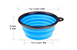 Silicone Foldable Expandable Cat Dog Dish for Food Water