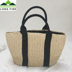 c11d9c179f5f Straw Tote Bag with Woven Belt Handle
