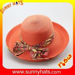 fa98de4d1b9 Cheap Wholesale up Brim 100% Paper Braid Women Summer Sun Protect Hats for  Beach
