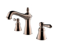 High-End Luxury Copper Bathroom Cabinet Double Tap Brass Bathroom Faucet