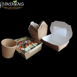 Disposable Paper Hot Food Take out Containers Custom Printed Take Away Boxes