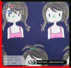 Wholesale Cotton Printed Denim Fabric for Coat