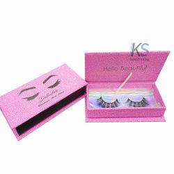 1c091d07980 Eyelash Packaging Box Custom Glitter Pink Empty Cardboard Box for Lashes