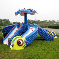 Multitube Water Slides Kids Cartoon Slides (Octopus)