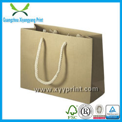 Custom Printing Flat Handle Kraft Paper Bag Price Wholesale