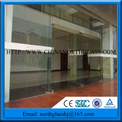 Large Thermal Break Aluminum Sliding Door Double Tempered Glass