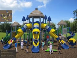 Kaiqi Medium Large Ancient Themed Chidlren's Adventure Playground Set for Amusement Park and More (KQ50003A)