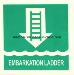 ISO Safety label Sign International Fire ladder Symbol Photoluminescent Safety Signs & Placards