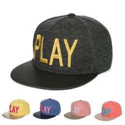 cc7338e7f9d Hot Selling New Hip Hop Cap Snapback Cap with Leather Brim