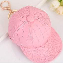Fashion Crocodile Print Hat Design Coin Purse Wallet Key Chain Gift Bag Accessory for Ladies FT060