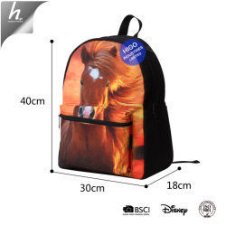 Cat 3D Printed Teenage Canvas Laptop Backpack Girls School Bags