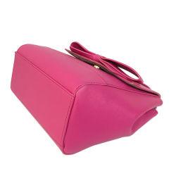 LC-012 Fashion 2018 Bowknot Decor Satchel Bag China Wholesale Price Saffiano Leather Handbags for Women